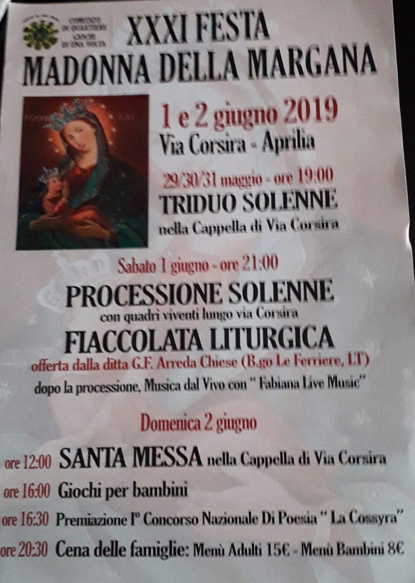 Calendario Differenziata Aprilia 2020.Aprilia 31 Festa Della Madonna Della Margana Di