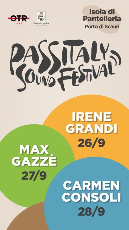 Locandina completa dell'evento Passitaly Sound Festival