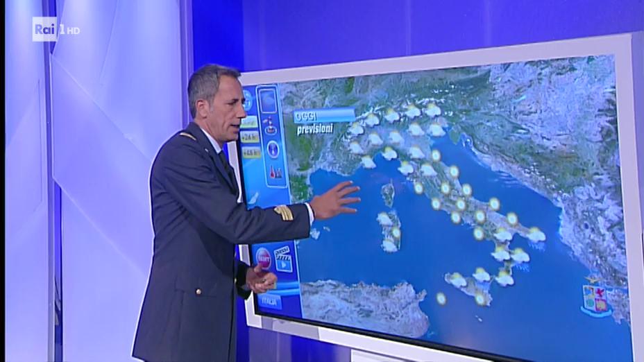 Il Tenente Colonnello Daniele Mocio in onda questa mattina su Rai1