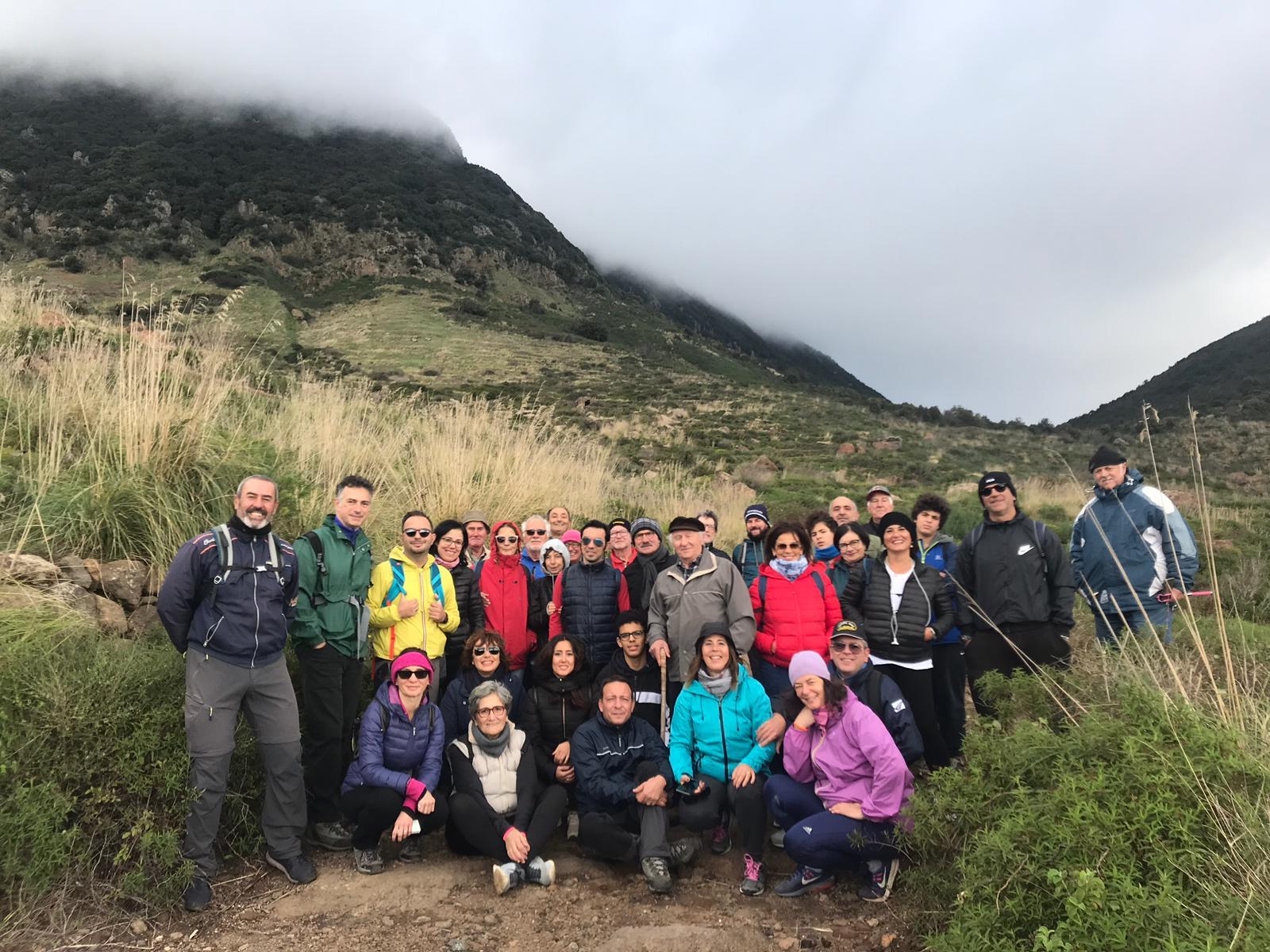 Foto di gruppo degli escursionisti